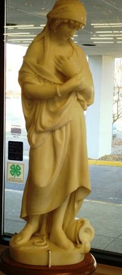 Sculpture of a robed woman
