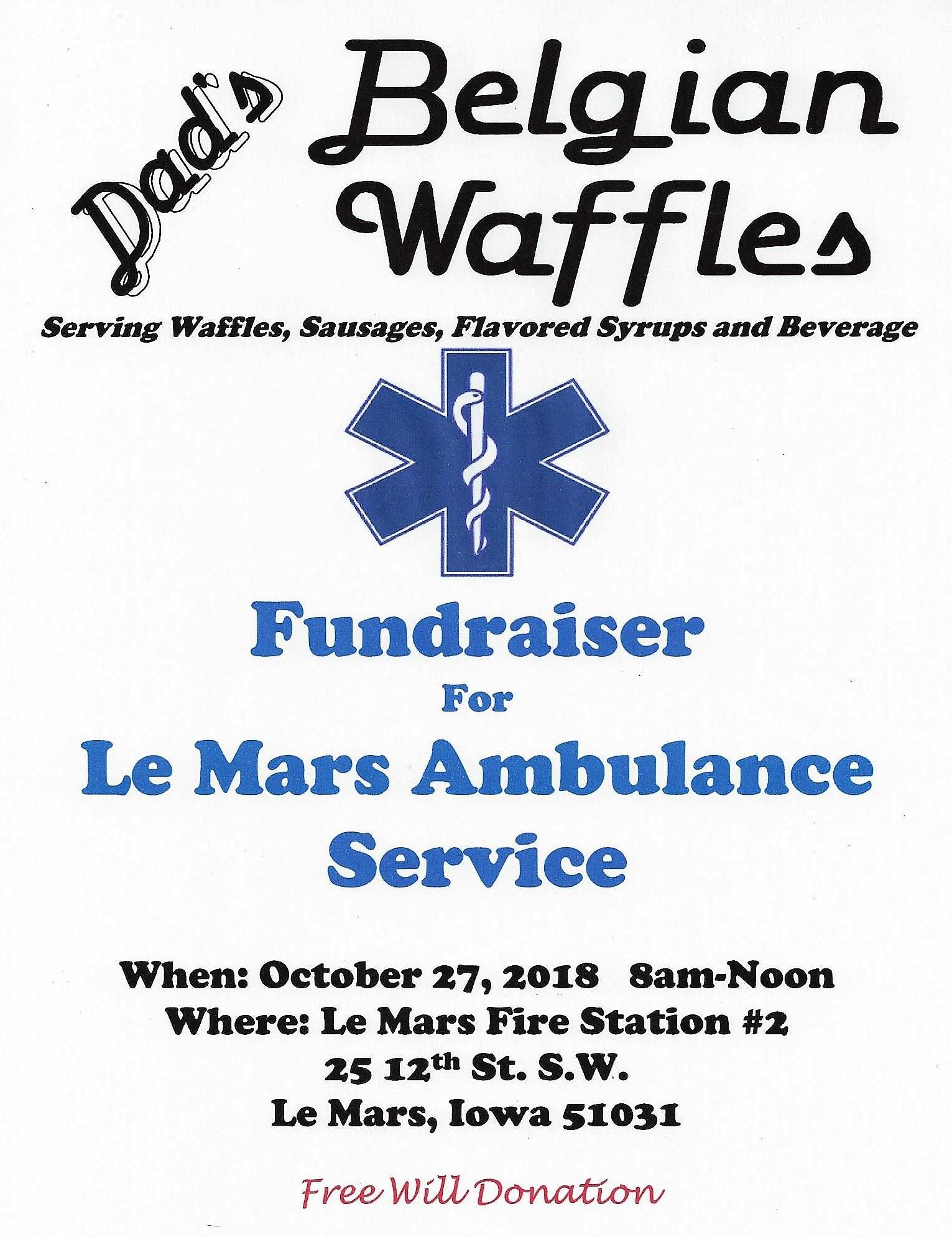 Ambulance Fundraiser Flier