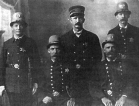 Officers of the Le Mars Police Department in the 1900s