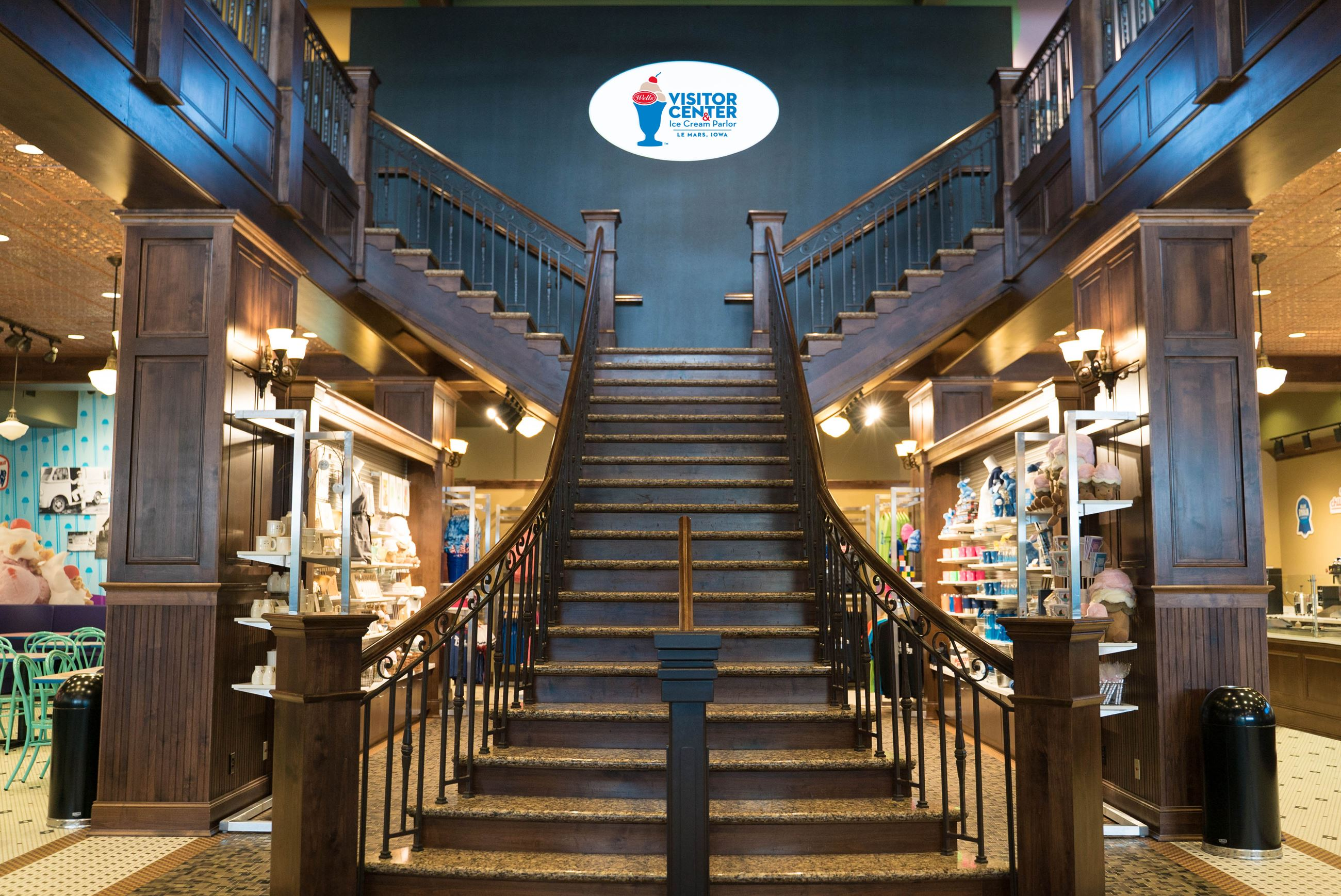 Ice Cream Parlor Staircase