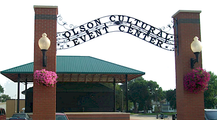 Olson Cultural Event Center entrance gate