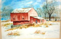 Mennonite Barn by Glenda Drennan