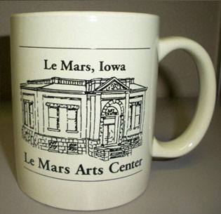 Front of the Le Mars, Iowa Le Mars Arts Center mug