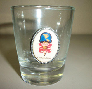 Le Mars Ice Cream Capital of the World Shot Glass $5