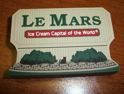 Le Mars Ice Cream Capital of the World Sign Pad $5