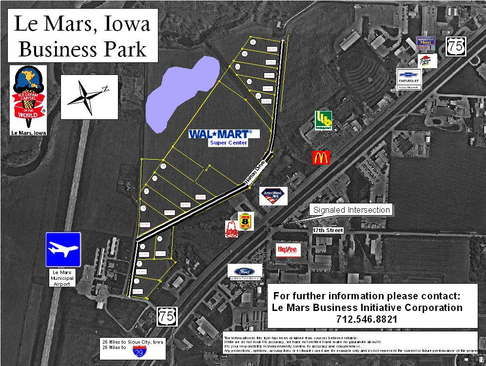 Image shows logos of several businesses along Highway 75. For further information please contact: Le